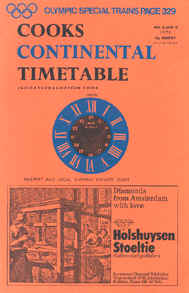 Price, J. H. (Hrsg.): Cooks Continental Timetable May 28 - June 30, 1972. London 1972 (Dumjahn-Nr. 0017804)